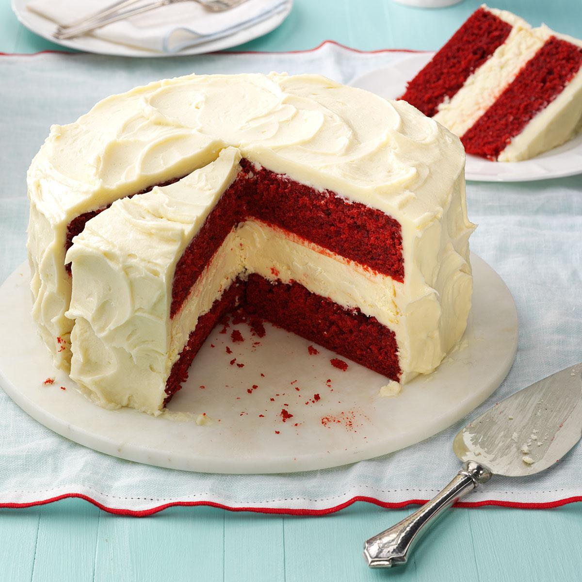 Red Velvet Cheesecake Recipe  Cheesecake Layered Red Velvet Cake Recipe