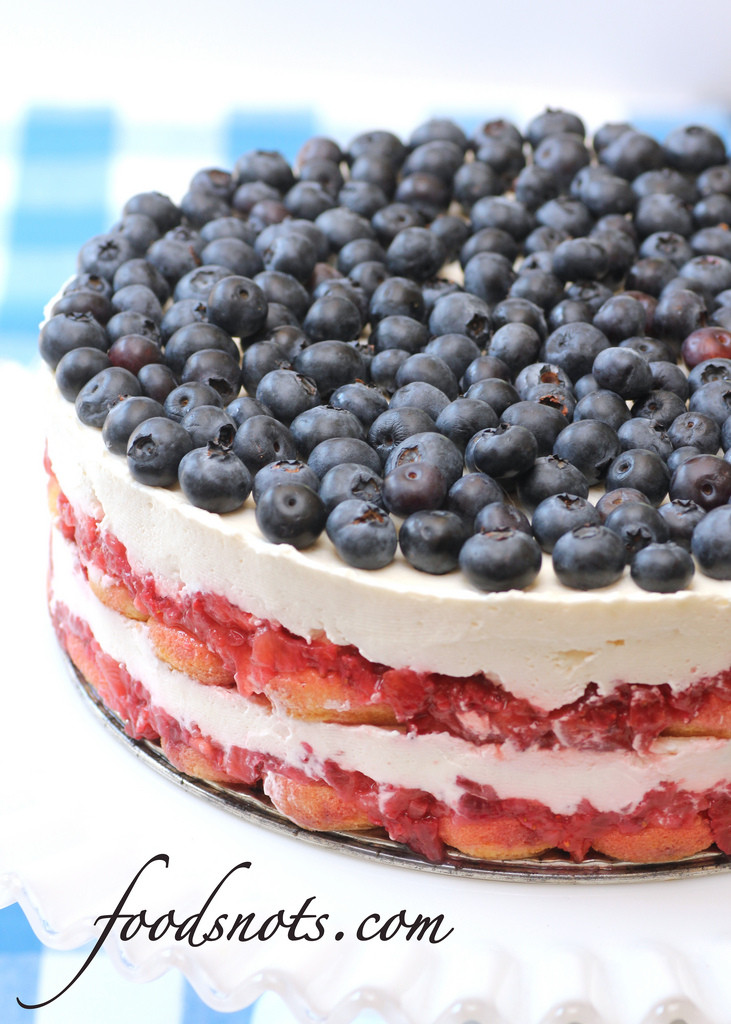 Red White And Blue Dessert  Red White and Blue Berry Trifle Recipe Snobs