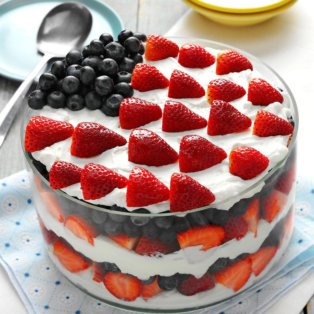 Red White And Blue Desserts  Red White and Blue Dessert Recipe