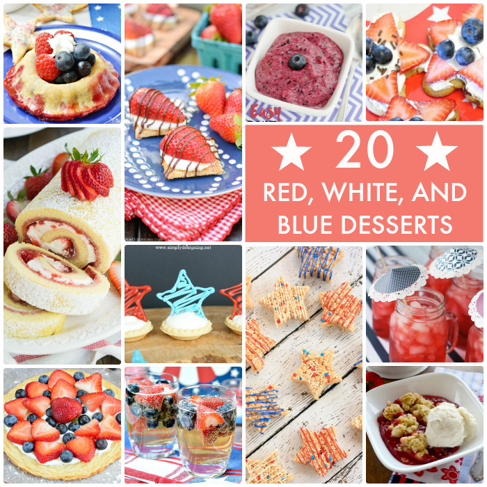 Red White And Blue Desserts  Great Ideas 20 Red White and Blue Desserts