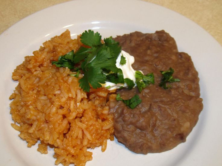 Refried Beans And Rice  If you read how easy it was to make Mexican restaurant