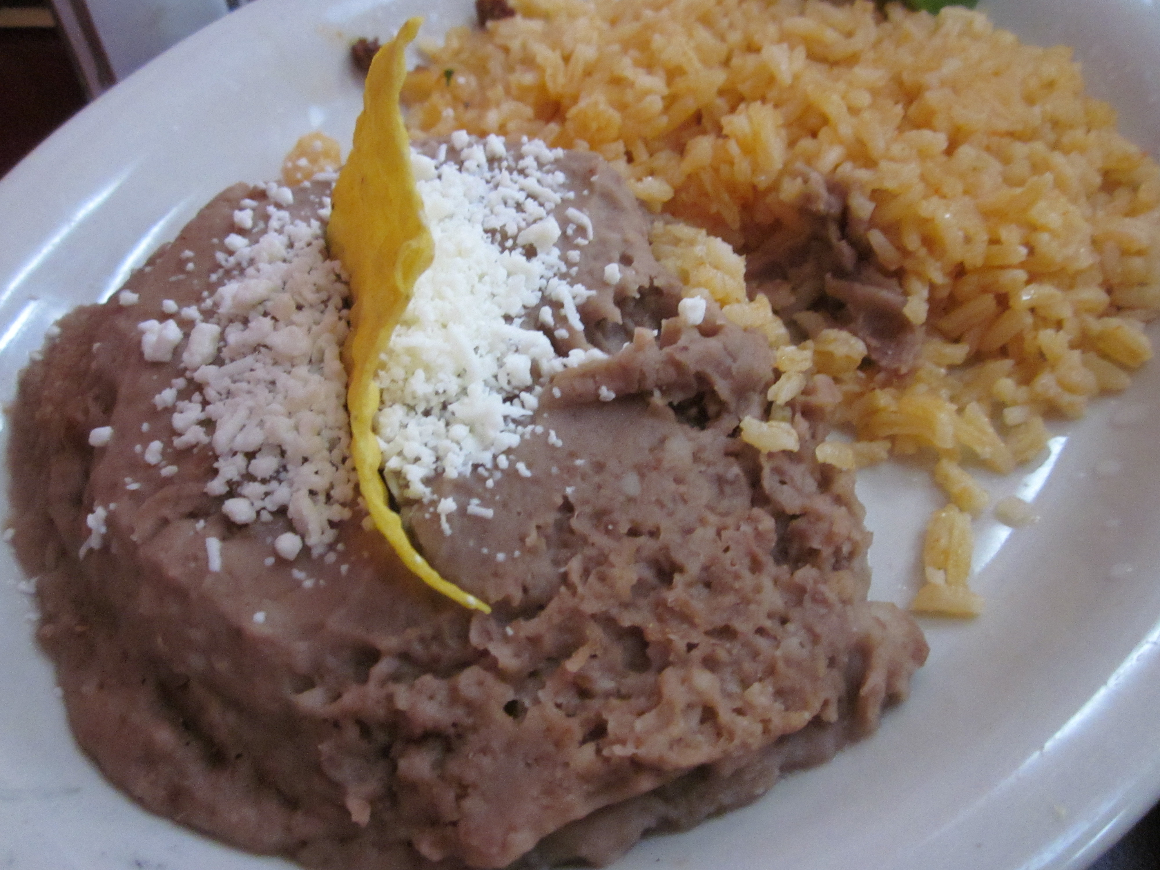 Refried Beans And Rice  Homi Restaurante Mexicano West St Paul