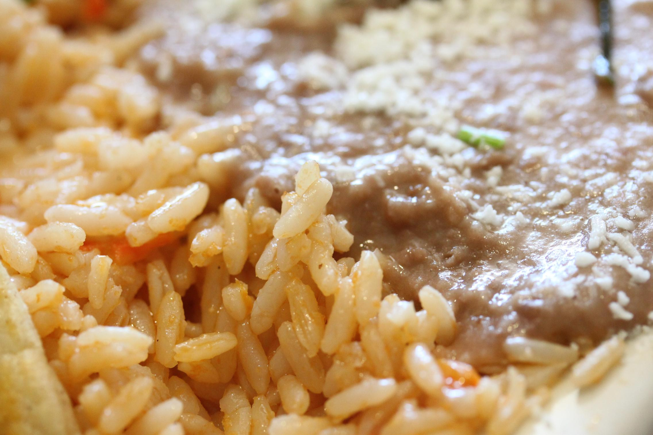 Refried Beans And Rice  Los Abuelos