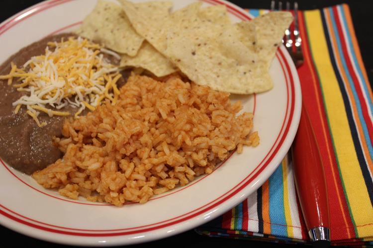 Refried Beans And Rice  mexican rice and refried beans