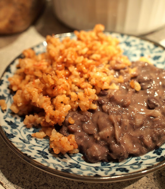 Refried Beans And Rice  Renae s Adventures Refried Black Beans and Spanish Rice