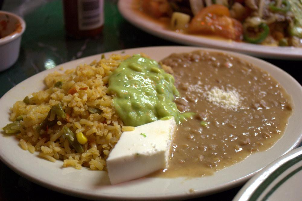 Refried Beans And Rice  Taqueria Coatzingo