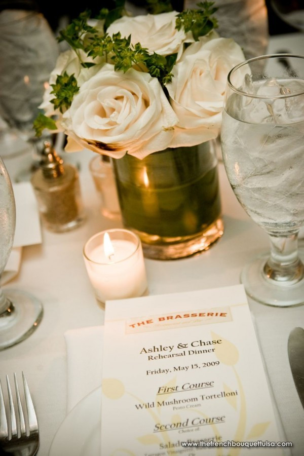 Rehearsal Dinner Centerpieces  The French Bouquet Blog inspiring wedding & event