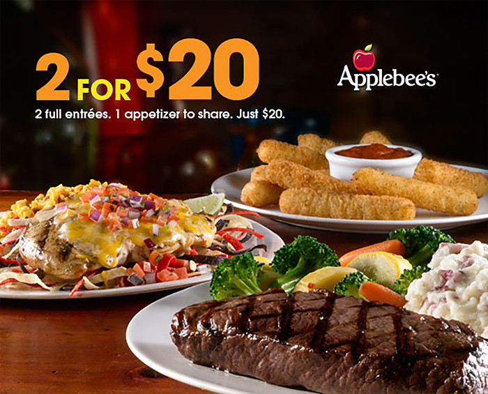 Restaurants With Dinner For 2 Specials  Applebee s Color Cuisine and Coupons So Good Blog