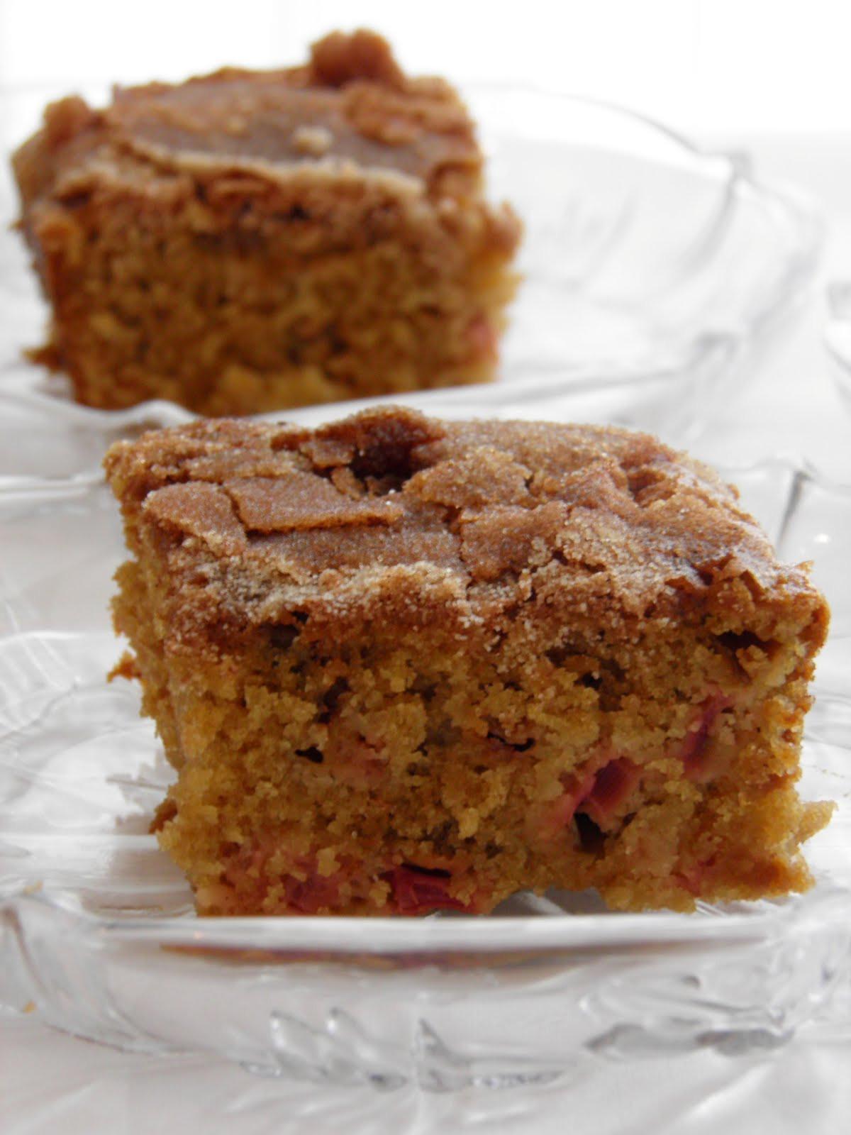 Rhubarb Cake Recipe  Baking and Mistaking Guest Post Rhubarb Cake