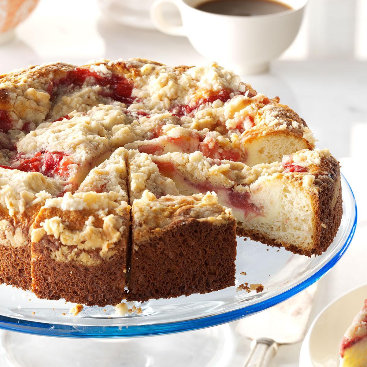 Rhubarb Cake Recipe  Rhubarb & Strawberry Coffee Cake Recipe
