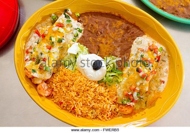 Rice And Beans Restaurant  Enchiladas Stock s & Enchiladas Stock Alamy