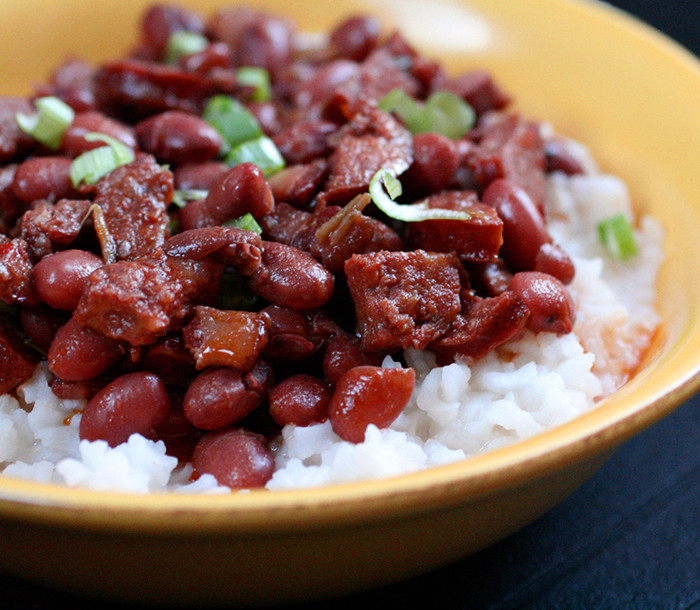 Rice And Beans Restaurant  Red Beans and Rice side