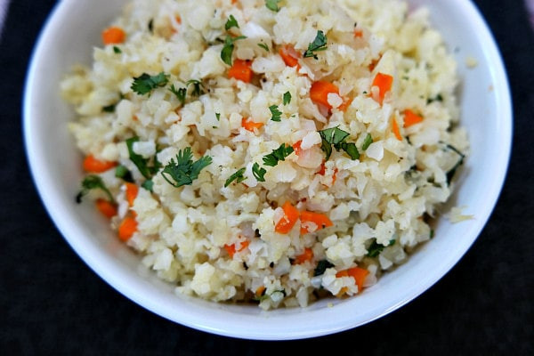 Rice Cauliflower Recipes  Cauliflower Rice Recipe Girl