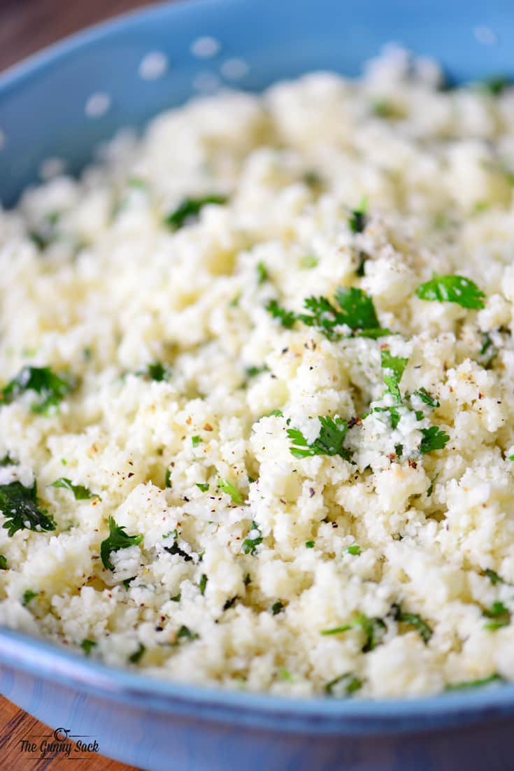 Rice Cauliflower Recipes  Cilantro Lime Cauliflower Rice The Gunny Sack