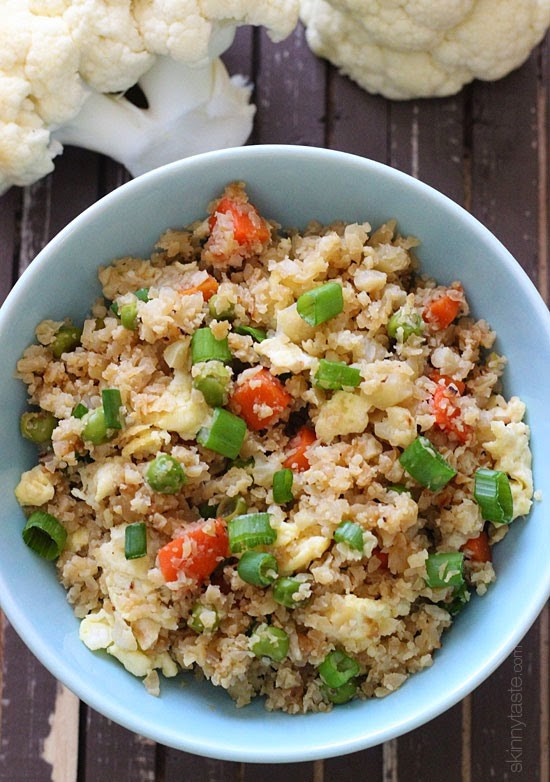 "Rice Cauliflower Recipes  Cauliflower ""Fried Rice"" Recipe"