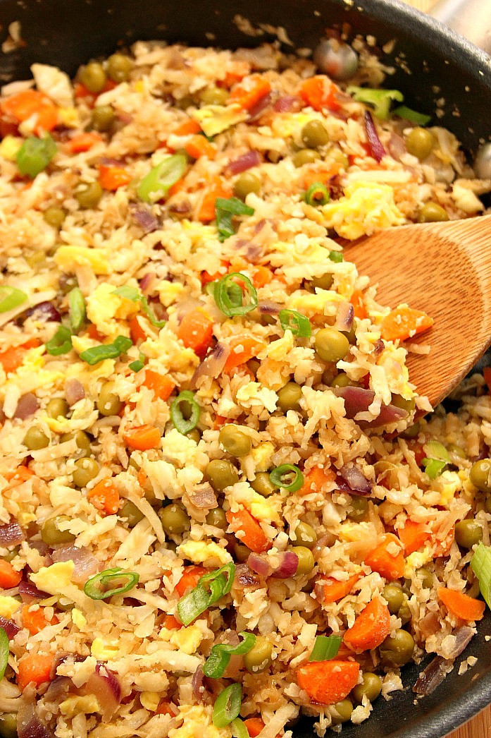 Rice Cauliflower Recipes  Cauliflower Fried Rice Recipe Crunchy Creamy Sweet
