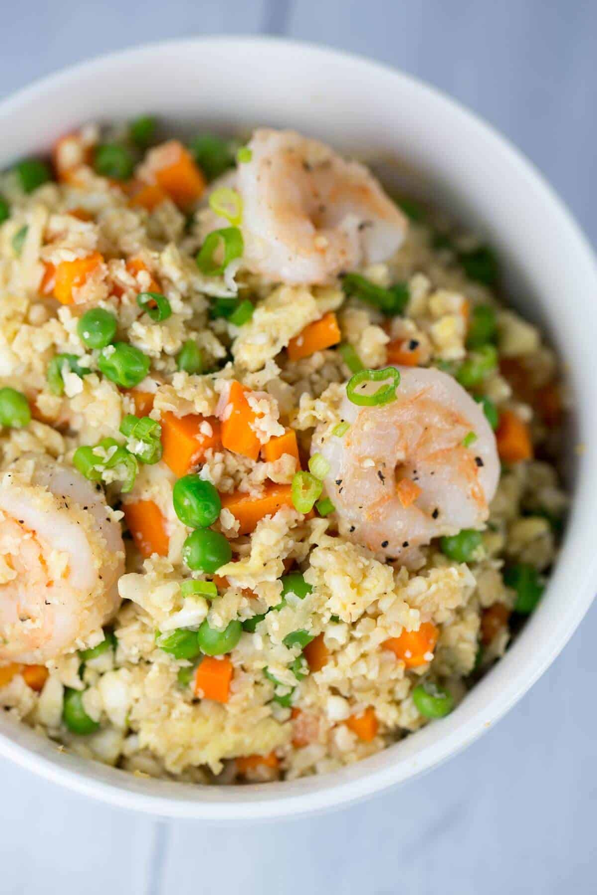Rice Cauliflower Recipes  Healthy Shrimp Fried Cauliflower Rice Bowl Jessica Gavin