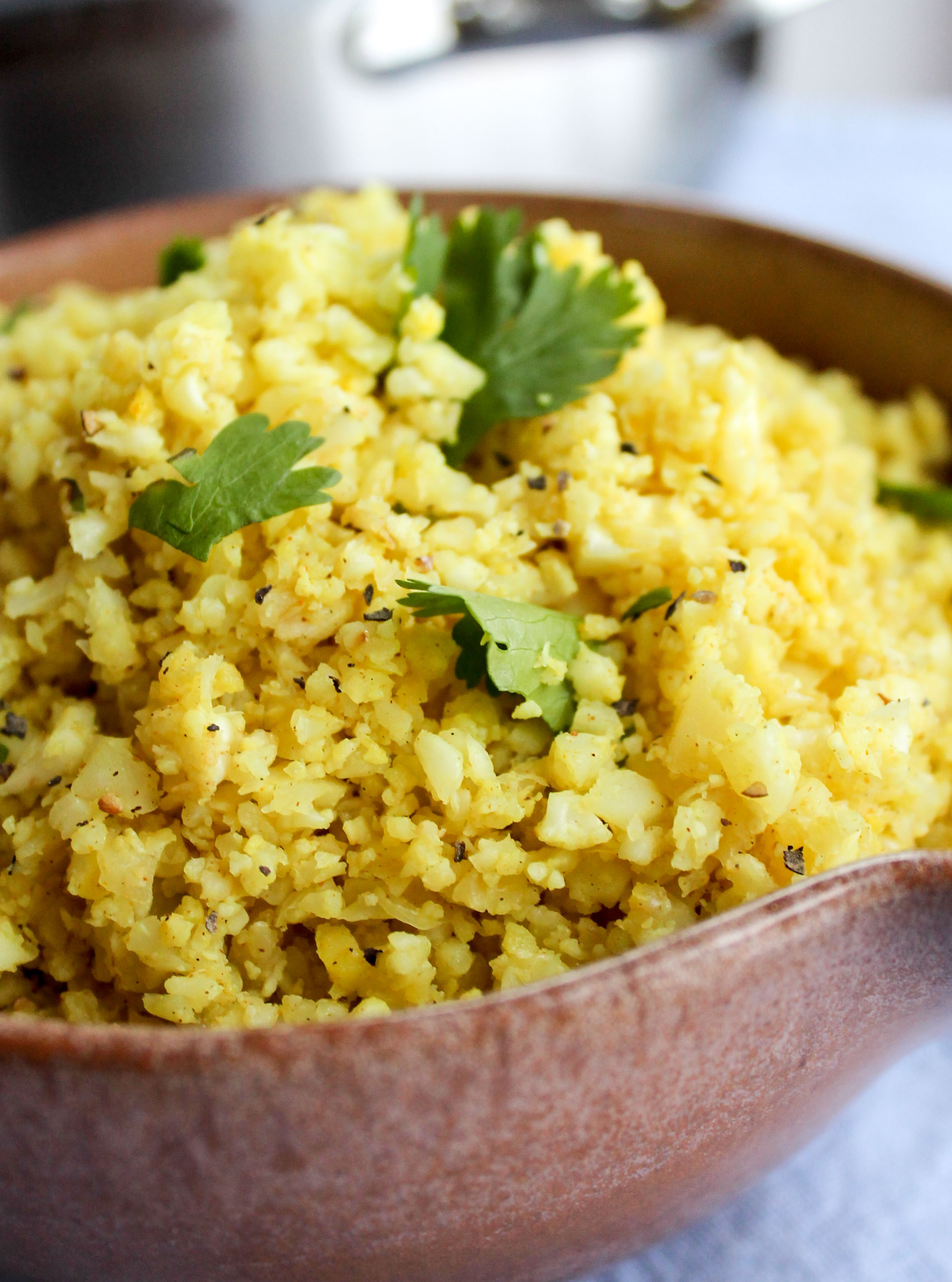 "Rice Cauliflower Recipes  Indian Spiced Cauliflower ""Rice"" The Food Charlatan"
