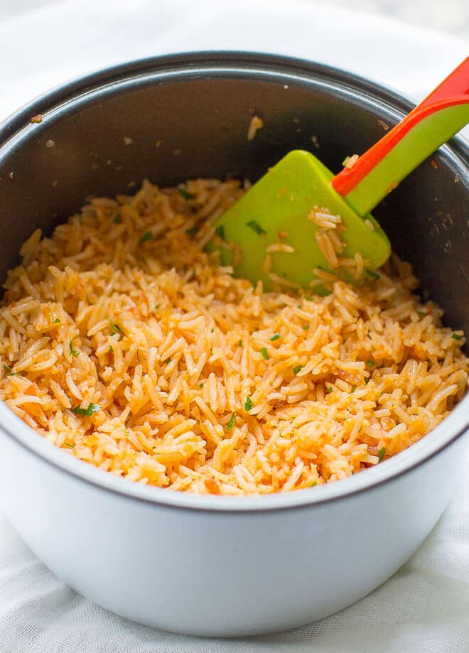 Rice Cooker Mexican Rice  Mexican Rice Arroz Rojo