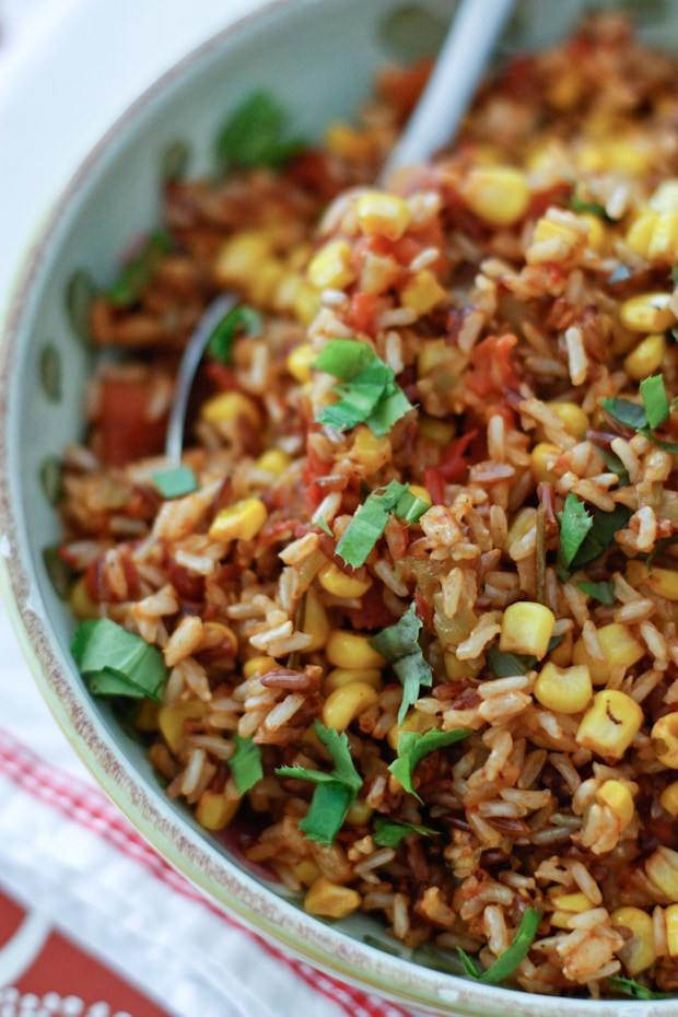 Rice Cooker Mexican Rice  Mexican Wild Rice Recipe and a Zojirushi Rice Cooker Giveaway