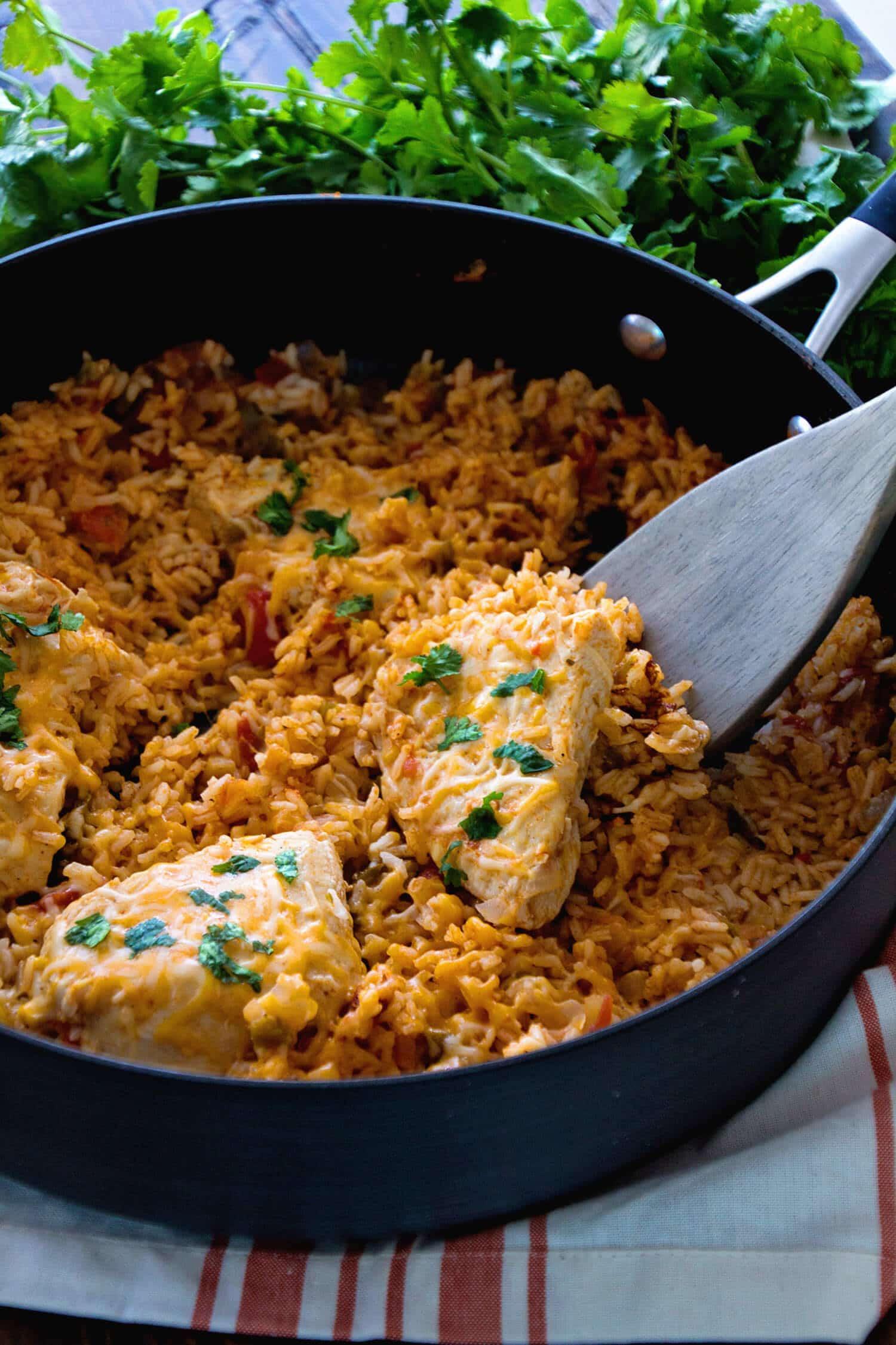 Rice Dinner Recipes  e Pot Fiesta Chicken & Rice Recipe Julie s Eats & Treats