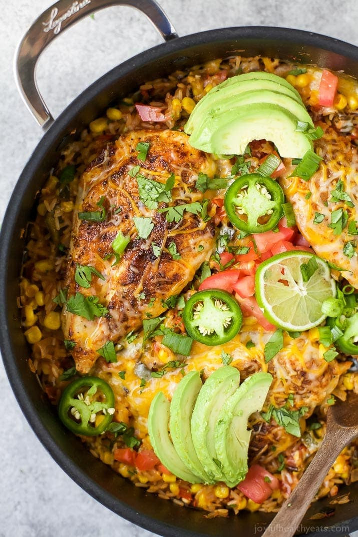 Rice Dinner Recipes  e Pan Southwestern Chicken and Rice