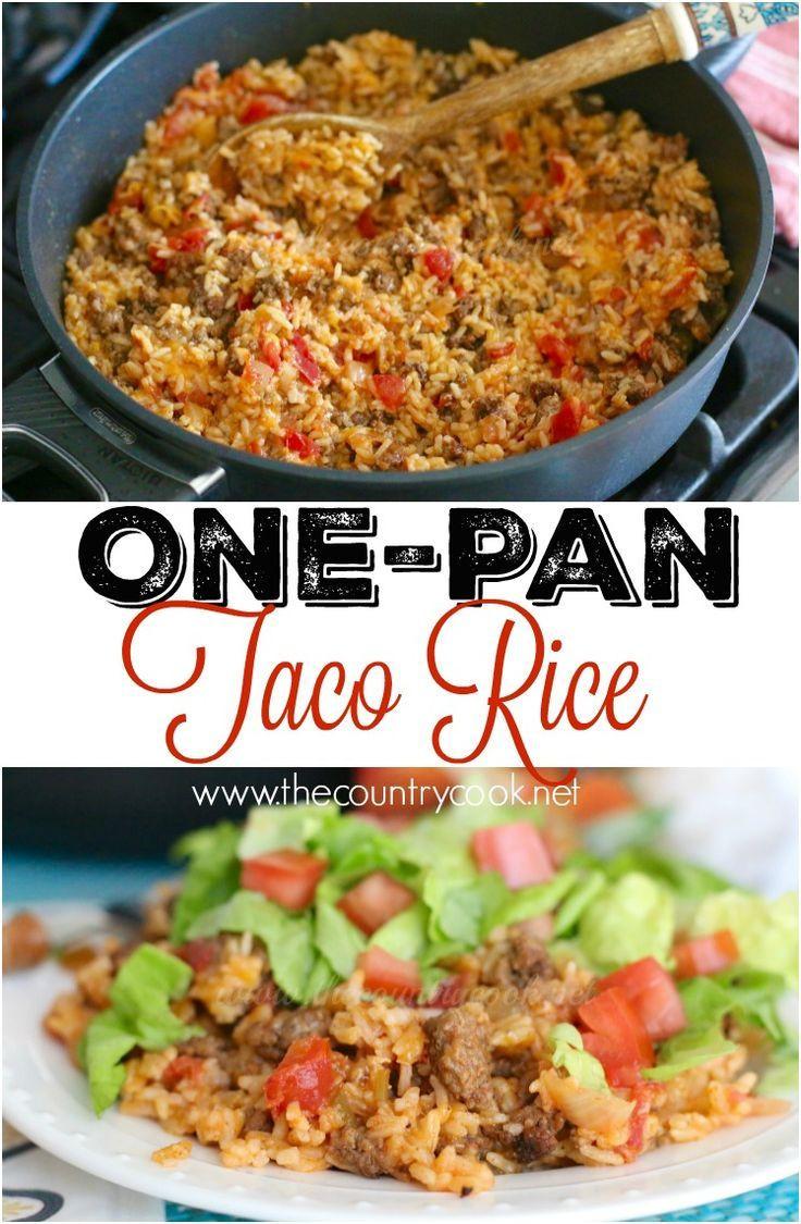 Rice Dinner Recipes  25 bästa Ground beef rice idéerna på Pinterest
