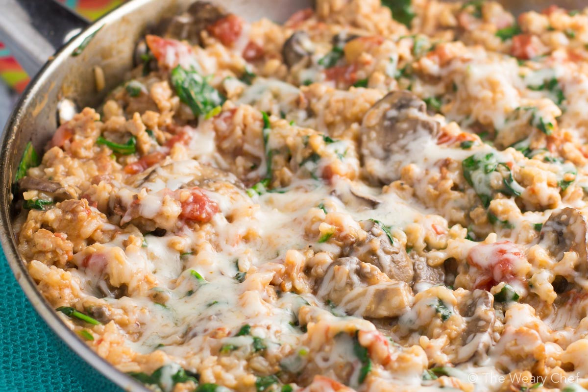 Rice Dinner Recipes  Cheesy e Pot Sausage and Rice The Weary Chef