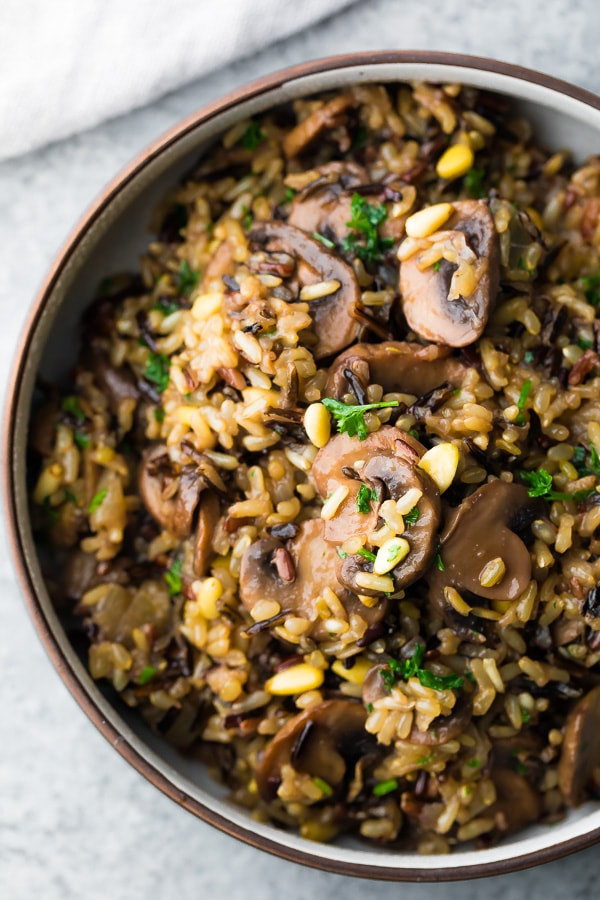 Rice Pilaf Instant Pot  Instant Pot Wild Rice Pilaf with Mushrooms and Pine Nuts