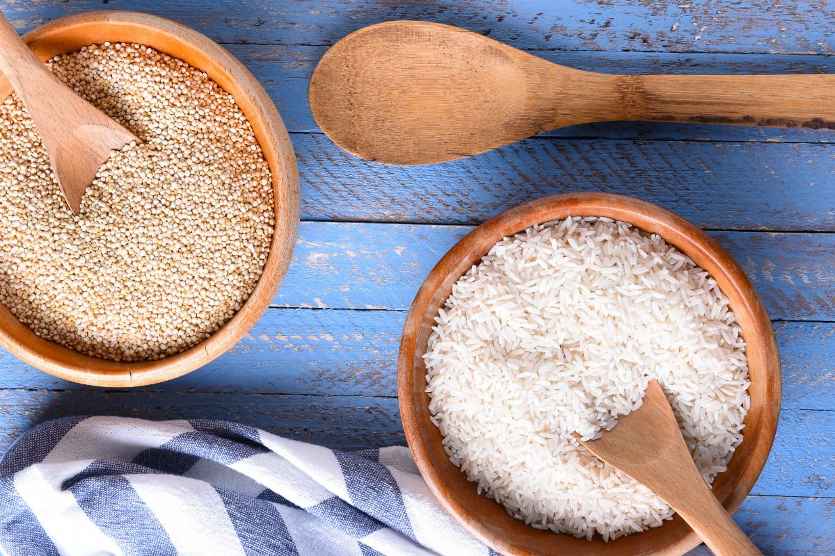 Rice Vs Quinoa  Healthy Foods The Warm Up