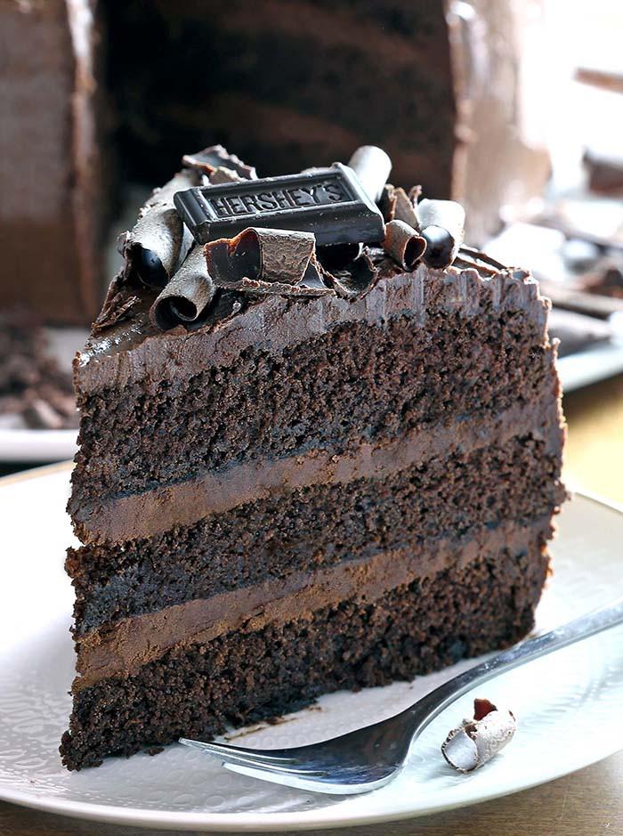 Rich Chocolate Cake  Dark Chocolate Cake Cakescottage