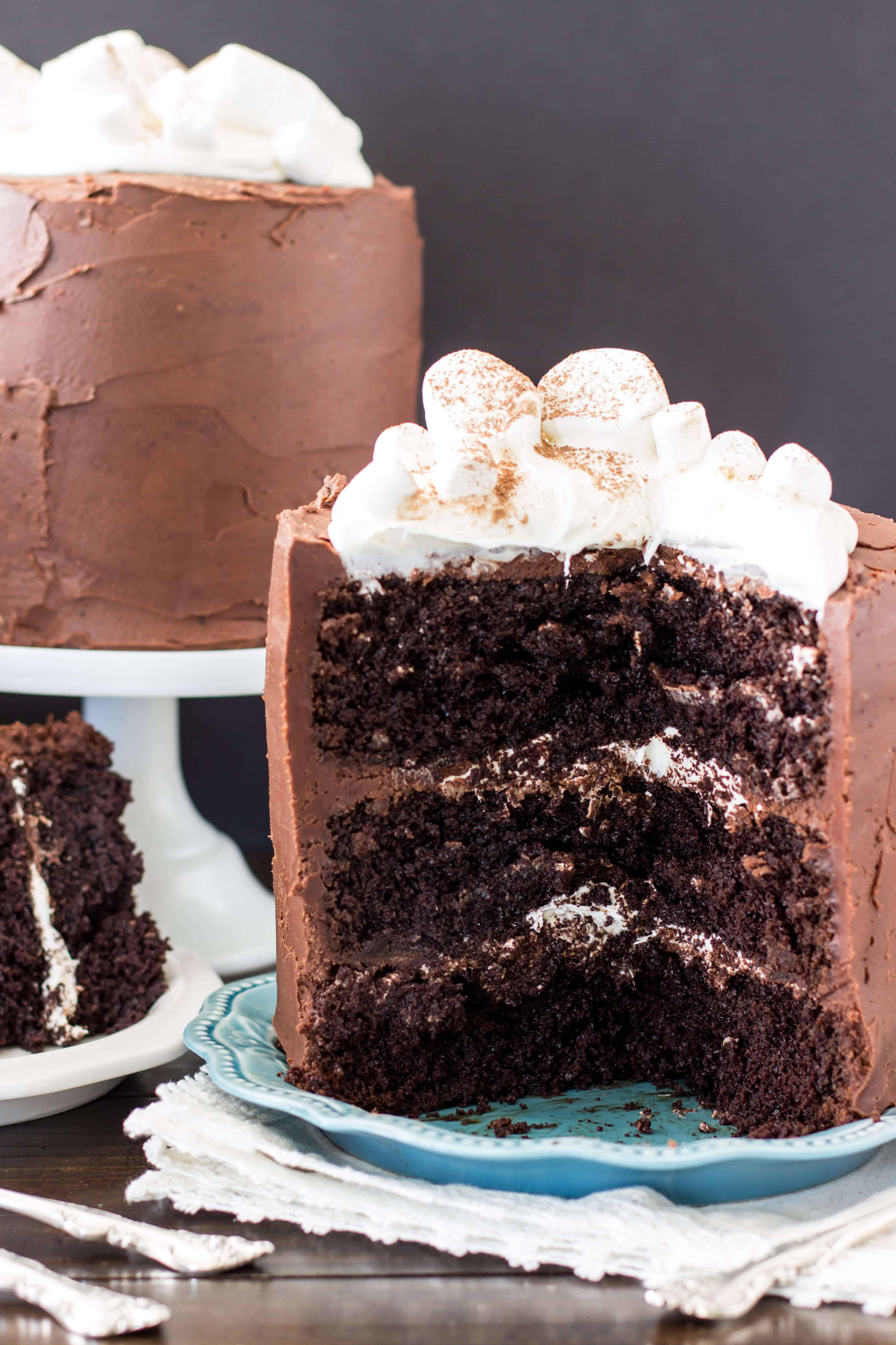 Rich Chocolate Cake  Hot Chocolate Cake Sugar Spun Run