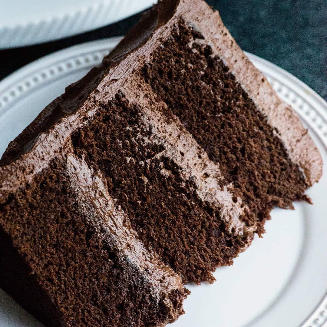 Rich Chocolate Cake  Perfect Chocolate Cake Recipe with Ganche buttercream