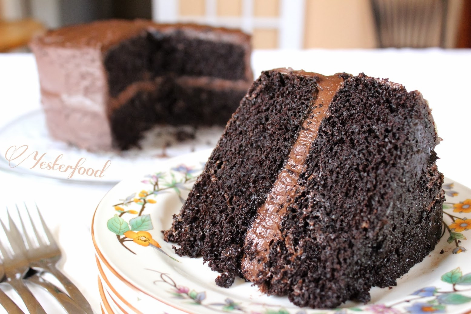 Rich Chocolate Cake  Yesterfood Rich Chocolate Layer Cake