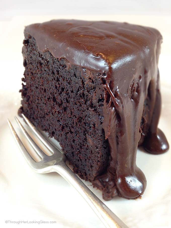 Rich Chocolate Cake  Brick Street Chocolate Cake Through Her Looking Glass