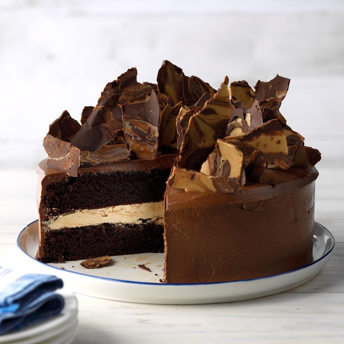 Rich Chocolate Cake  Rich Chocolate Peanut Butter Cake Recipe