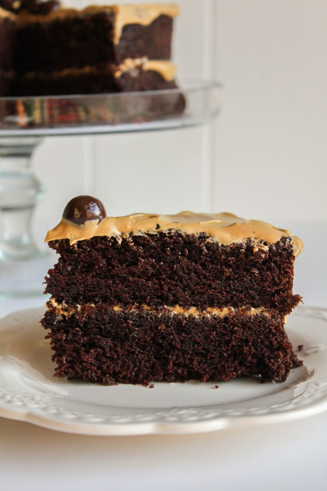 Rich Chocolate Cake  Rich Chocolate Cake with Coffee Frosting
