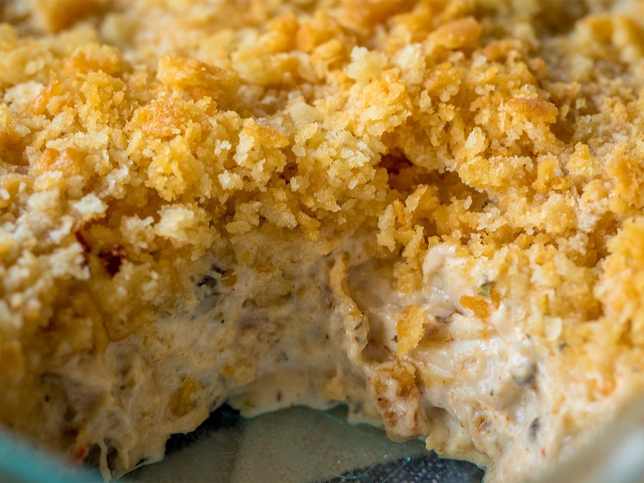 Ritz Cracker Chicken Casserole  Creamy Ritz Chicken Casserole – 12 Tomatoes