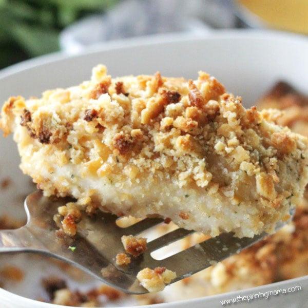 Ritz Cracker Chicken Casserole  Ritz Cracker Chicken Bake • The Pinning Mama