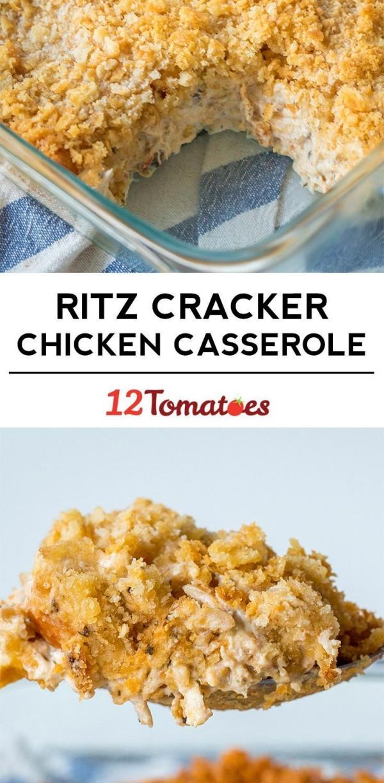 Ritz Cracker Chicken Casserole  Creamy Ritz Chicken Casserole