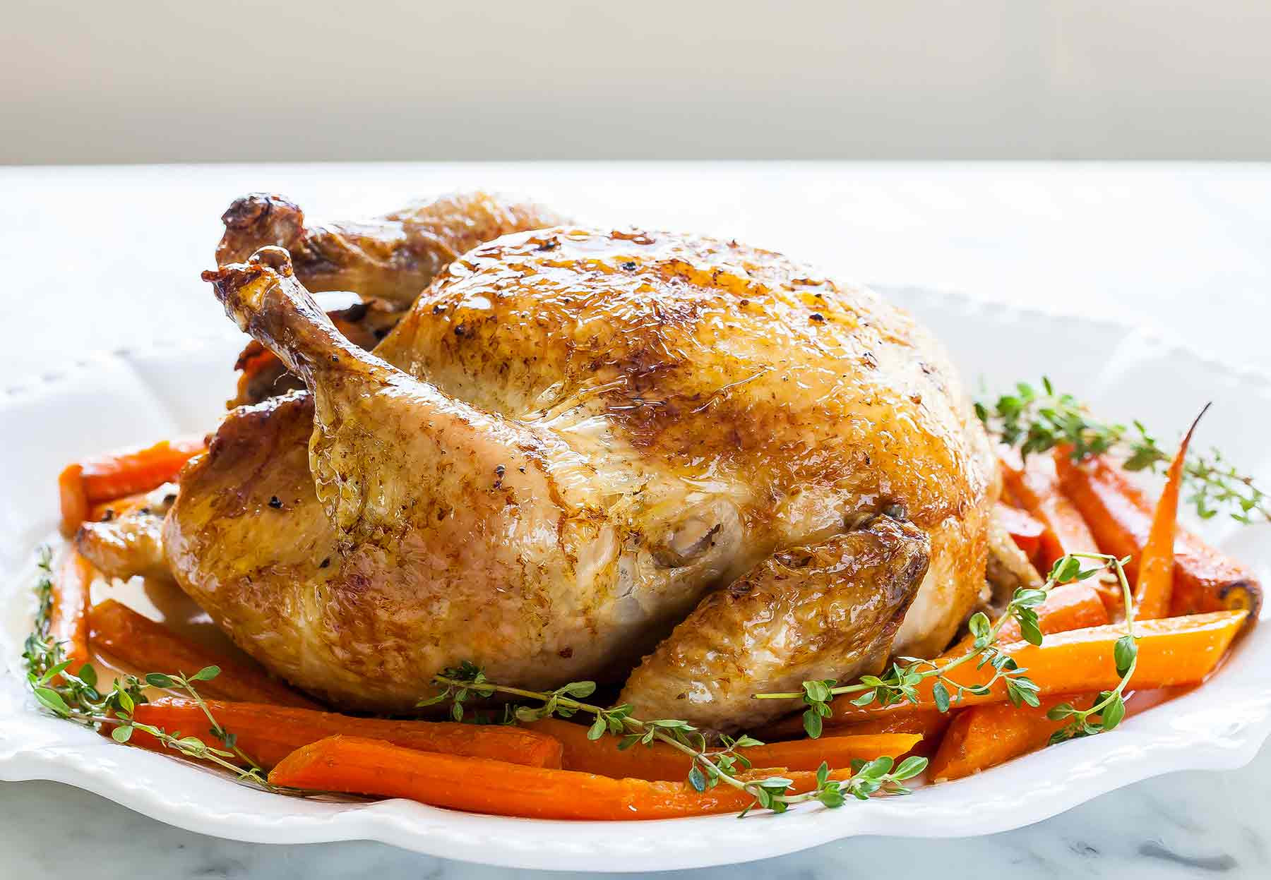 Roast A Whole Chicken  Roast Chicken with Carrots Recipe