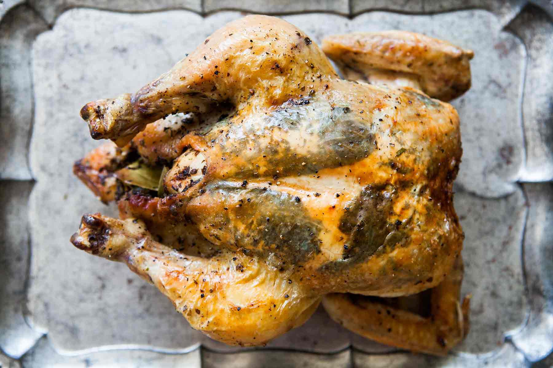 Roast A Whole Chicken  Herb Stuffed Roast Chicken Recipe