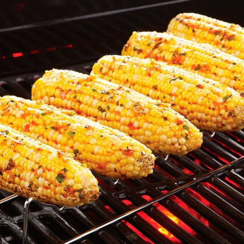 Roast Corn On Grill  Grilled Corn with Roasted Red Pepper Butter Recipes