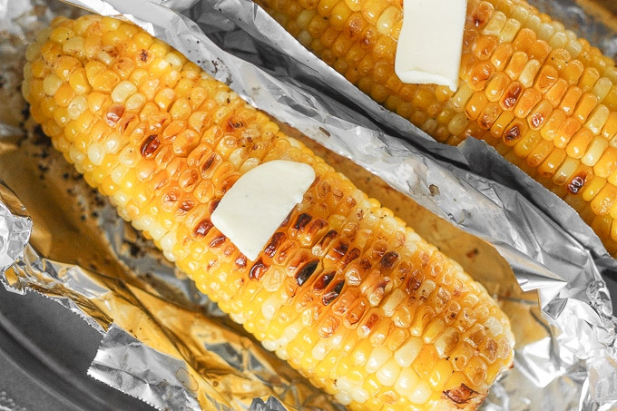 Roast Corn On Grill  Oven Roasted Corn on the Cob with Garlic Butter