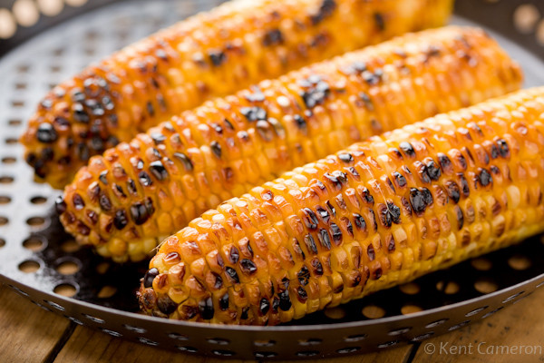 Roast Corn On Grill  Green Bean Salad with Sweet Tomatoes and Corn A