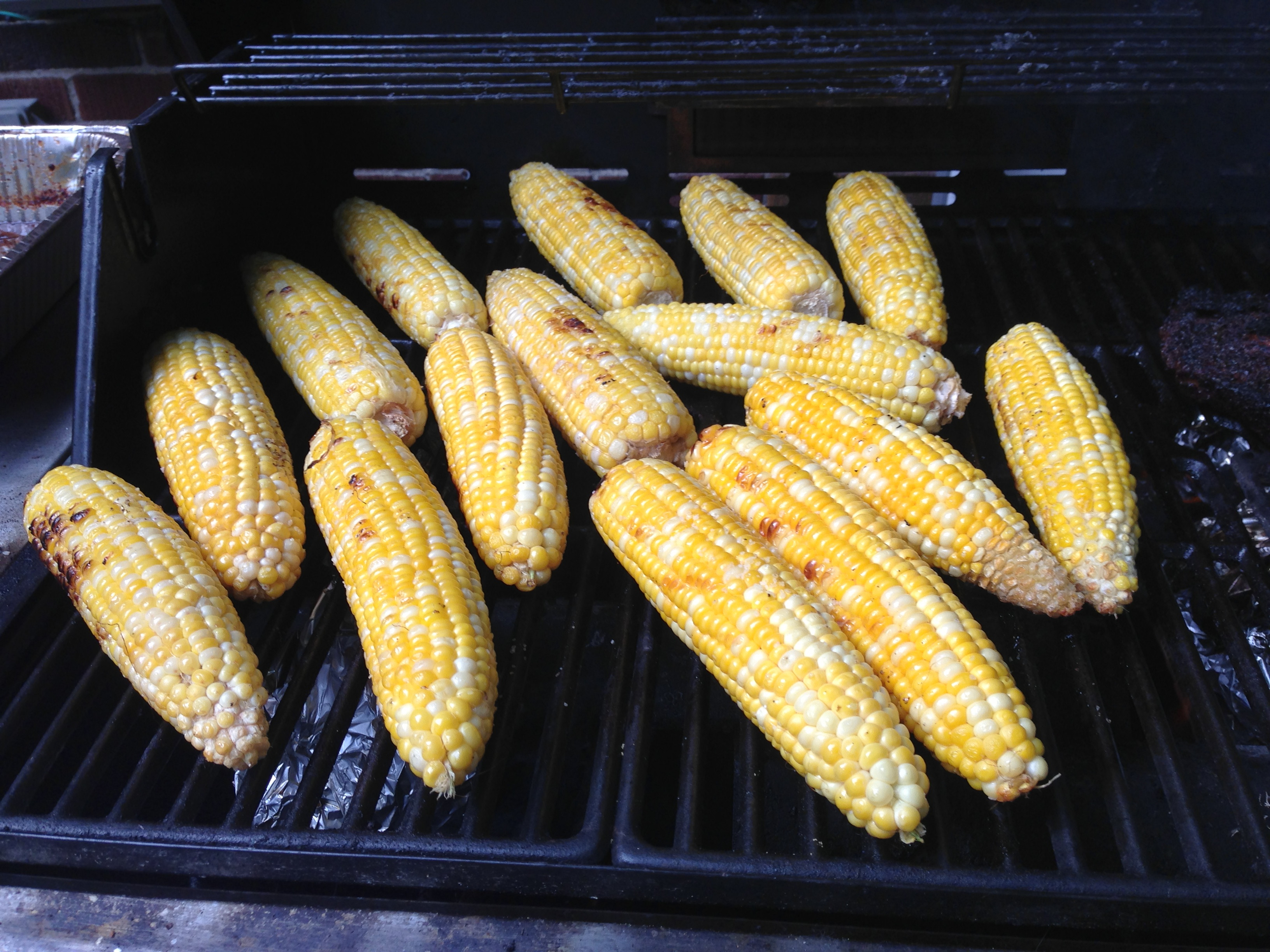 Roast Corn On Grill  Grilled Roasted Corn