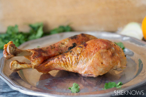 Roast Turkey Legs  Herb roasted turkey legs