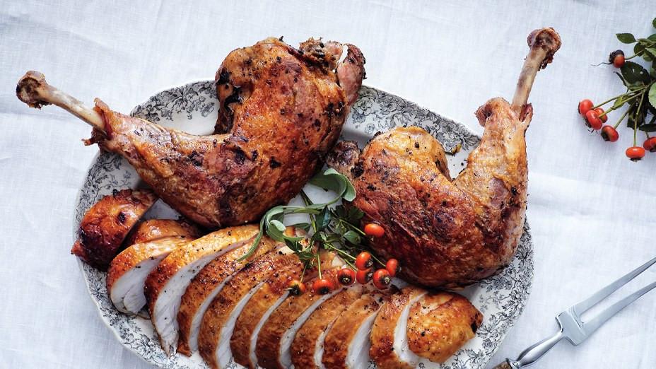Roast Turkey Legs  Brined Roast Turkey Breast with Confit Legs Recipe