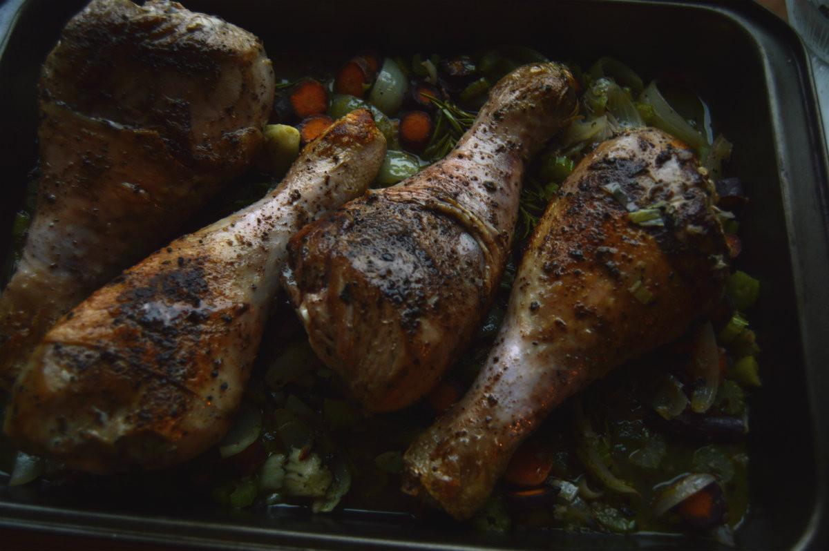 Roast Turkey Legs  Roasted Turkey Legs The Meyer Food Blog