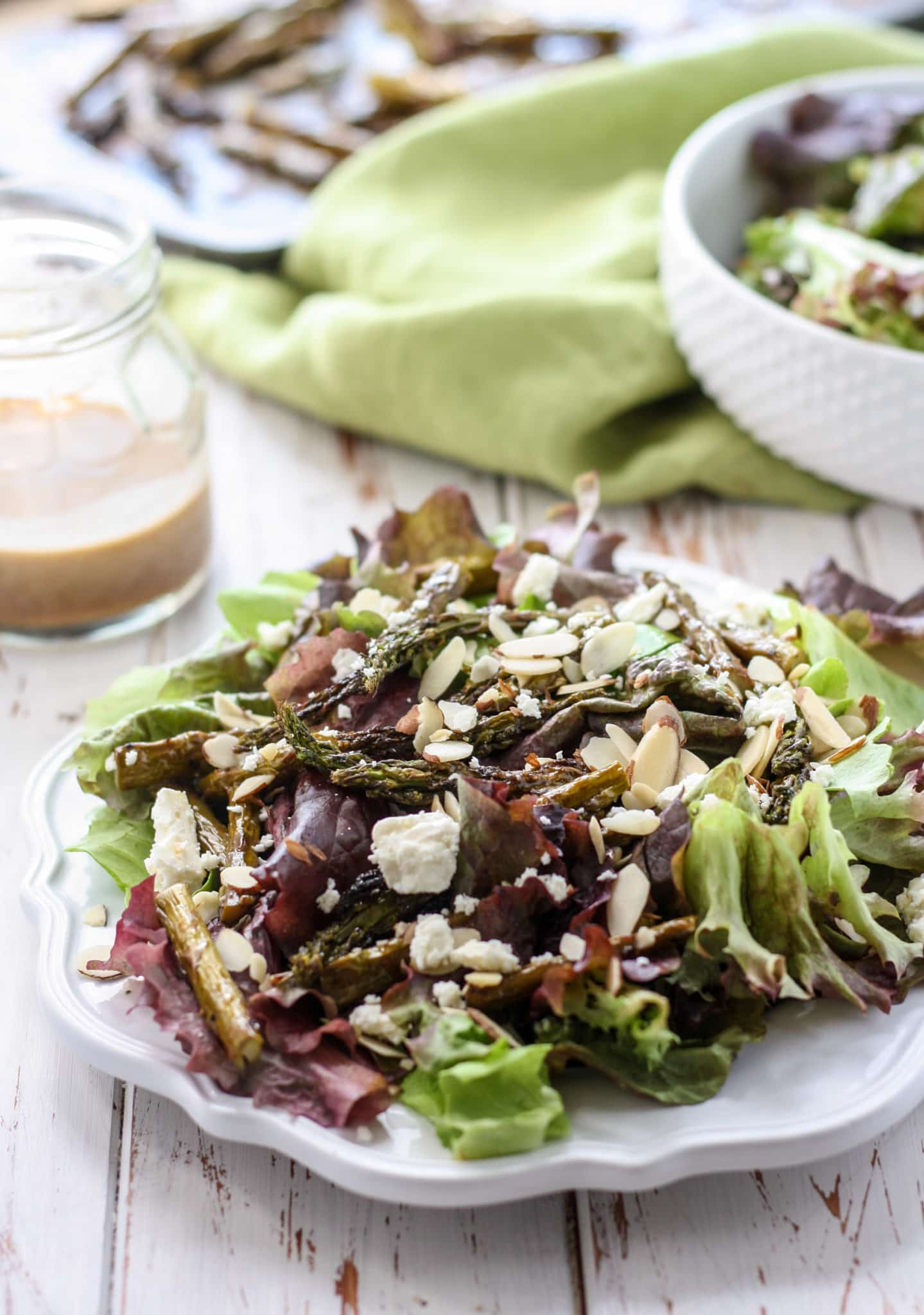 Roasted Asparagus Salad  Roasted Asparagus Salad with Balsamic Almond Dressing